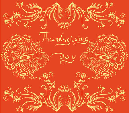 Thanksgiving background   postcard. Vector