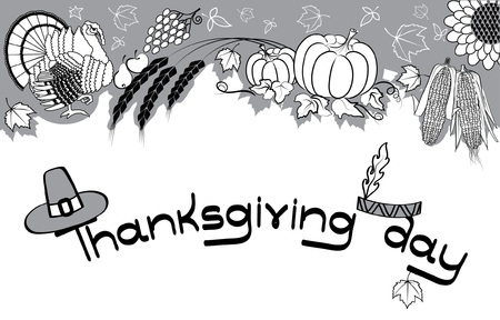 Thanksgiving decoration Vector