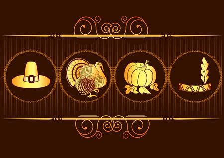 turkey thanksgiving: Fondo de postcard.Thanksgiving de Turqu�a para dise�o