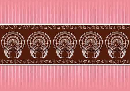 Thanksgiving pattern.graphic turkey for design Vector