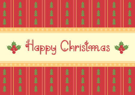 Christmas decoration.vintage pattern.Red green card with text Stock Vector - 8267599