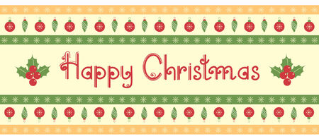 Christmas decoration.vintage pattern.Red green card with text Stock Vector - 8267600