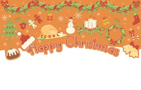 Christmas elements for design.banner  Vector