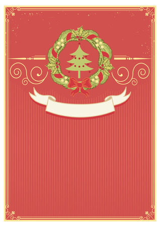Christmas background for text.vintage card Vector