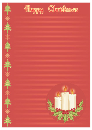 christmas background for text.Vintage postcard Vector