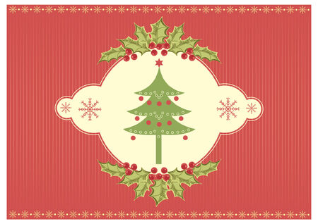 Christmas card.vintage background for text. Vector