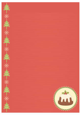 Vector vintage christmas background for text Stock Vector - 8452255