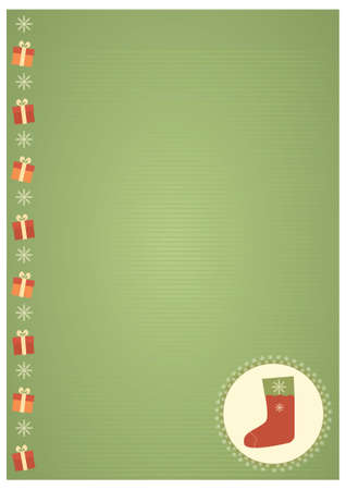 Vector vintage christmas background for text Stock Vector - 8452254