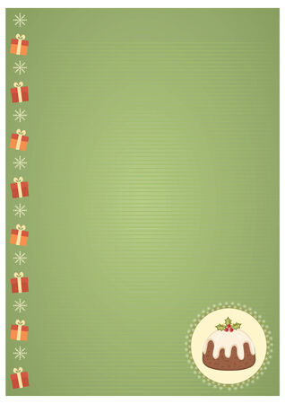 Vector vintage christmas background for text  Stock Vector - 8452259