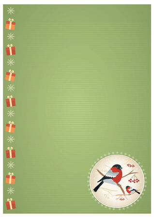 christmas background. New year card holiday Stock Vector - 8404645