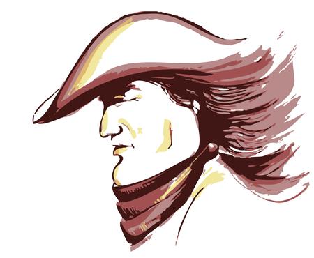 Vector cowboy face.Portrait of strong man Stock Vector - 8480924