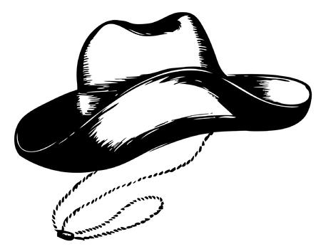 Cowboy hoed op wit.Vector grafische illustratie Vector Illustratie