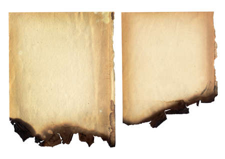 Burnt paper texture.BAckground Stock Photo - 8506510