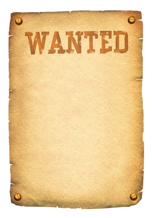 antique rifle: Wanted poster. Stock Photo
