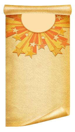 retro grunge background .Old paper scroll Stock Photo - 8538216