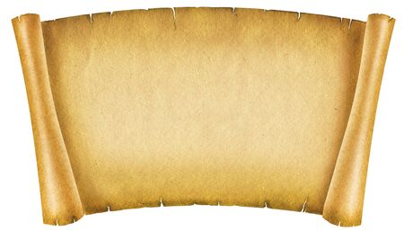 rolled scroll: Old paper texture.Antique background scroll for text on white Stock Photo