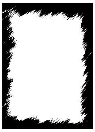 messy: grunge frame for frame or design Illustration