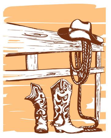 cowboy elements Stock Vector - 8697592