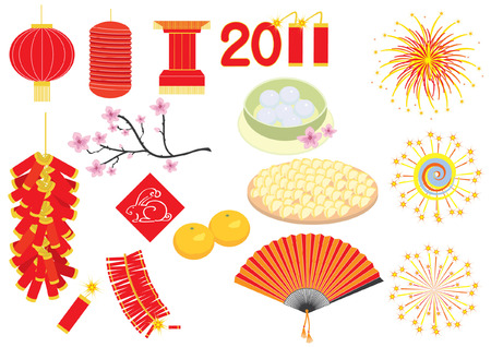 year of the rabbit: Vector Chinese new year elements for celebrations