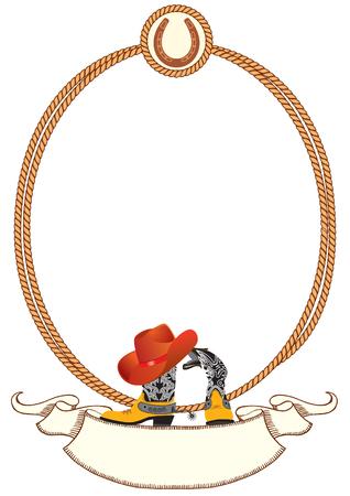 botas vaqueras: Fondo de cartel de Cowboy de diseño con elementos de cowboy.Vector