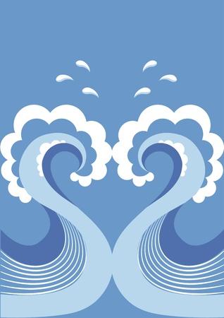 watery: Onda vettoriale