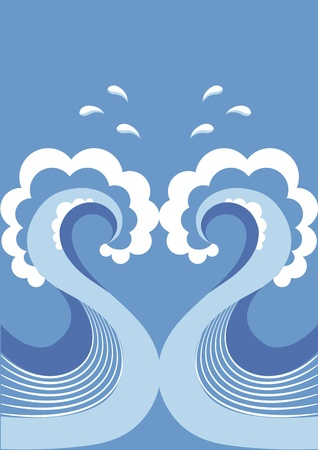 watery: Vector wave  Illustration