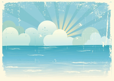 Sun and blue sky with beautifull clouds.Vector image Stock Vector - 9278766