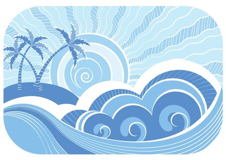 Abstract sea waves Stock Vector - 9347952