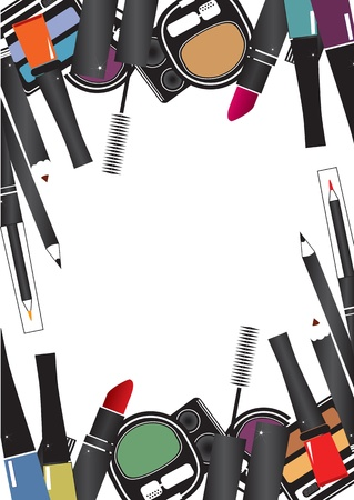 Illustrations vectorielles de cosmétiques isolés composent sur un fond blanc Vecteurs