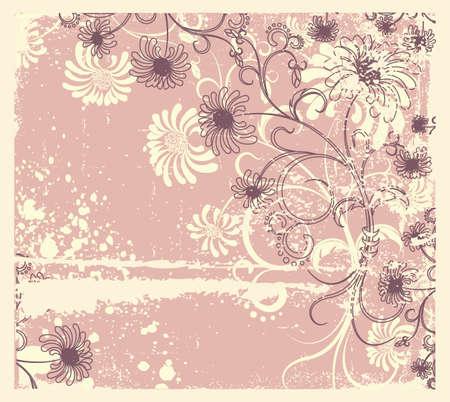 Vector floral decoration .Vintage flowers background Stock Vector - 9375113
