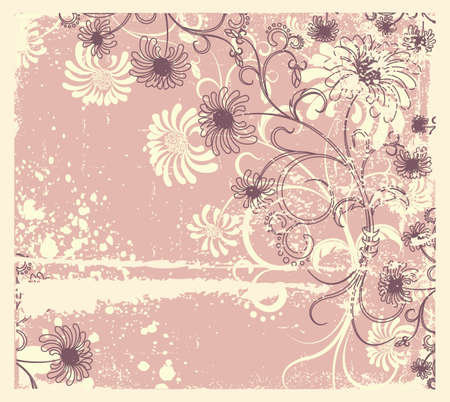 Vector floral decoration .Vintage flowers background Stock Vector - 9375113
