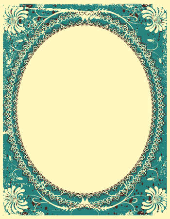 vintage floral background with decor frame for text Stock Vector - 9394114