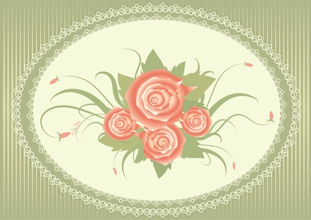 floral background with decor frame Stock Vector - 9410879