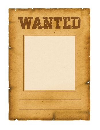 Wanted poster background for design on white photo