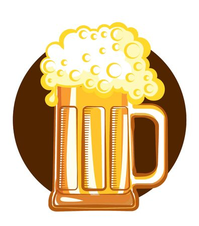 Glass of beer. color symbol of Illustration for design Stock Vector - 9533139