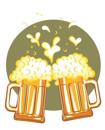 Glasses of beer. color symbol of Illustration for design Stock Vector - 9533135