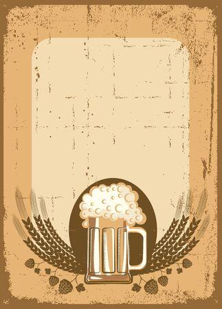 local festivals:  Beer background. grunge Illustration for text