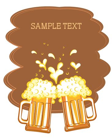 Glasses of beer. color symbol of Illustration for design Stock Vector - 9533128