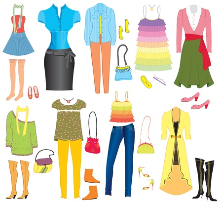 fashion clothes and accessories for weman for design Stock Vector - 9533160