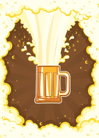Glasses of beer.Vector color symbol of Illustration for design Vector