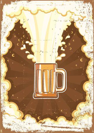 tankard:  Beer background.Vector grunge Illustration for text