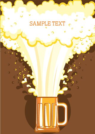 Glasses of beer.Vector color symbol of Illustration for design Stock Vector - 9539074