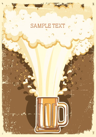 Beer background.Vector grunge Illustration for text Vector