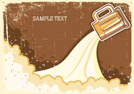 Beer background.grunge Illustration for text Vector