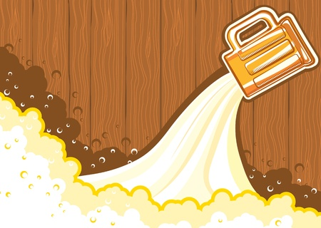 Beer background.color symbol of Illustration for design Stock Vector - 9585331