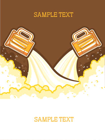 Glasses of beer.Vector color symbol of Illustration for design Vector