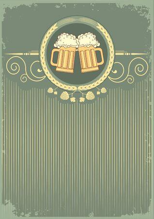 tankard:  Beer background.grunge Illustration for text