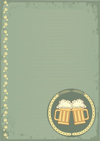 Beer background.grunge Illustration for text Stock Vector - 9585345