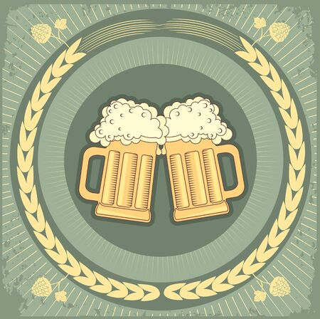 Beer background.grunge Illustration for text Stock Vector - 9585341
