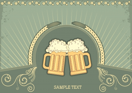 Beer background.grunge Illustration for text Stock Vector - 9585346